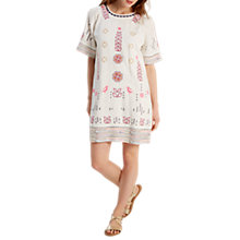 Buy White Stuff Aster Embroidered Dress, White Online at johnlewis.com