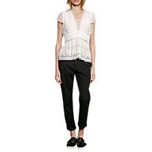 Buy French Connection Hesse Broderie Top, Summer White Online at johnlewis.com