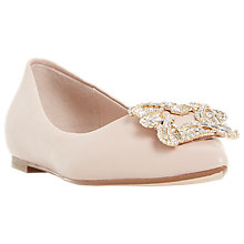 Buy Dune Briela Jewel Ballet Pumps, Blush Online at johnlewis.com