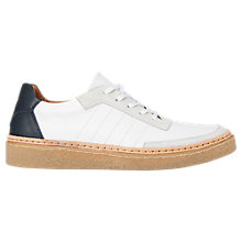 Buy Whistles Crepe Sole Trainers, White Online at johnlewis.com