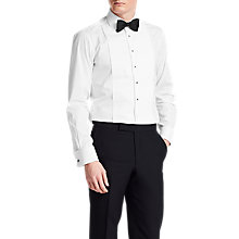 Buy Thomas Pink Fitzrovia Plain Slim Fit Double Cuff Shirt, White Online at johnlewis.com