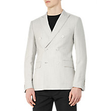 Buy Reiss Ochea Wool Linen Double Breasted Blazer, Ecru Online at johnlewis.com