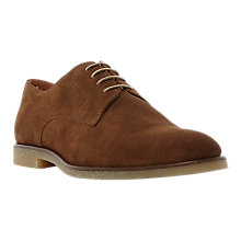 Buy Dune Bronco Crepe Sole Suede Derby Shoes, Tan Online at johnlewis.com