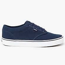 Buy Vans Atwood Canvas Trainers, Dress Blues Online at johnlewis.com