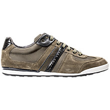 Buy HUGO BOSS Akeen Suede Trainers, Dark Green Online at johnlewis.com