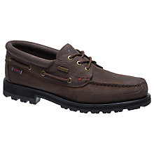 Buy Sebago Vershire 3 Eyelet Shoes, Dark Brown Online at johnlewis.com