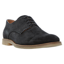 Buy Dune Bronco Crepe Sole Suede Derby Shoes, Black Online at johnlewis.com