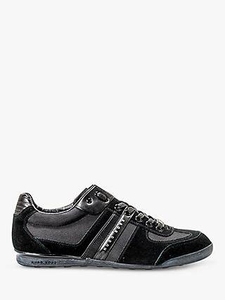 HUGO BOSS Akeen Suede Trainers, Black