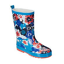 Buy John Lewis Children's Ciara Floral Wellington Boots, Blue Online at johnlewis.com