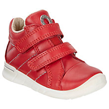 Buy ECCO Children's First Double Rip-Tape Leather Shoes Online at johnlewis.com