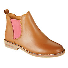 Buy John Lewis Children's Libby Leather Chelsea Boots, Tan Online at johnlewis.com