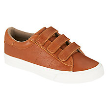 Buy John Lewis Children's Marco Riptape Trainers, Tan Leather Online at johnlewis.com