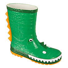 Buy John Lewis Children's 3D Monster Wellington Boots, Green Online at johnlewis.com