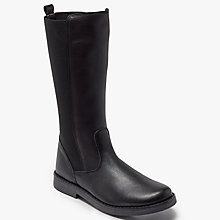 Buy John Lewis Children's Belle Leather Riding Boots, Black Online at johnlewis.com