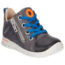 Buy ECCO Children's Leather Lace and Zip Fastening First Shoes Online at johnlewis.com