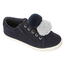 Buy John Lewis Children's Paige Pom Pom Suede Shoes Online at johnlewis.com
