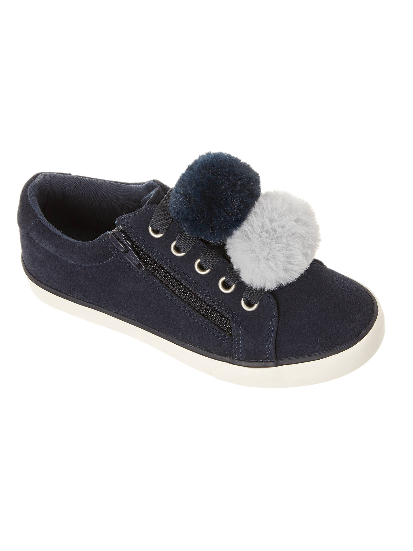 BuyJohn Lewis & Partners Children's Paige Pom Pom Suede Shoes, Navy, 11 Jnr Online at johnlewis.com