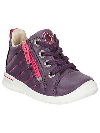 ECCO Children's Leather Lace and Zip Fastening First Shoes
