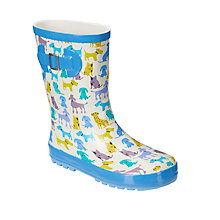 Buy John Lewis Dogs Wellington Boots, Multi Online at johnlewis.com
