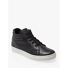 Buy John Lewis Children's Steph Hi Top Trainers, Black Online at johnlewis.com