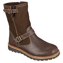 Buy John Lewis Children's Buckle Boots, Chocolate Online at johnlewis.com
