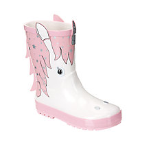 Buy John Lewis Children's 3D Unicorn Wellington Boots, Pink/White Online at johnlewis.com