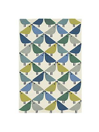 Scion Lintu Birds Rug, Blue