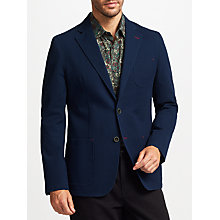 Buy John Lewis Washed Cotton Blazer, Navy Online at johnlewis.com