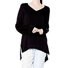 Buy Ghost Ash Tunic Top, Black Online at johnlewis.com