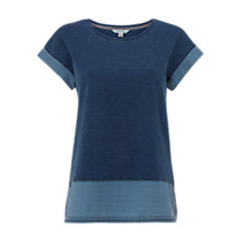 Buy White Stuff Sea Breeze Jersey T-Shirt, Chambray Blue Online at johnlewis.com