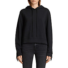 Buy AllSaints Fringi Hoodie, Jet Black Online at johnlewis.com