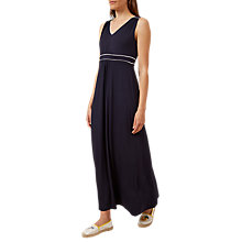 Buy Hobbs Iris Maxi Dress, Navy/White Online at johnlewis.com