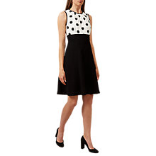 Buy Hobbs Sun Spot Dress, Ivory/Black Online at johnlewis.com
