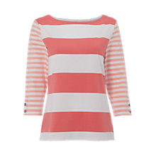 Buy White Stuff Mixed Stripe Jersey T-Shirt Online at johnlewis.com