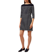 Buy Hobbs Bailey Stripe Dress, Navy/Ivory Online at johnlewis.com