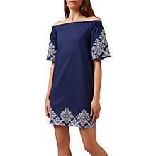 Buy Hobbs Alder Dress, French Blue Online at johnlewis.com