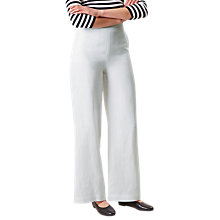 Buy Hobbs Anise Linen Trousers, White Online at johnlewis.com
