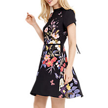 Buy Oasis Madison Placement Skater Dress, Multi Black Online at johnlewis.com