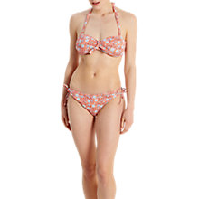 Buy White Stuff Floral Print Reversible Bikini Bottoms, Orange Online at johnlewis.com