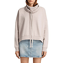 Buy AllSaints Tubo Sweatshirt, Pink Marl Online at johnlewis.com
