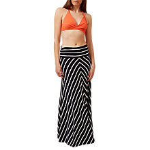 Buy Hobbs Iris Stripe Maxi Skirt, Navy/White Online at johnlewis.com