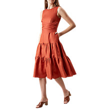 Buy Hobbs Seville Dress, Cayenne Red Online at johnlewis.com
