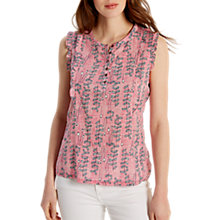Buy White Stuff Frilly Sleeveless Jersey Shirt Online at johnlewis.com