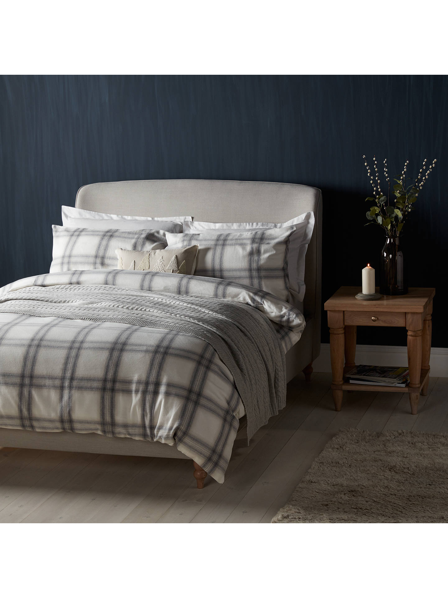 47f6353fae49 Buy John Lewis & Partners Warm and Cosy Ombre Check Brushed Cotton Duvet  Cover and Pillowcase ...