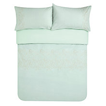 Buy John Lewis Palace Embroidered Seersucker Duvet Cover and Pillowcase Set Online at johnlewis.com
