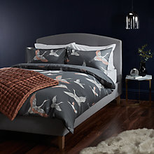 Buy John Lewis Cranes Print Cotton Duvet Cover and Pillowcase Set Online at johnlewis.com