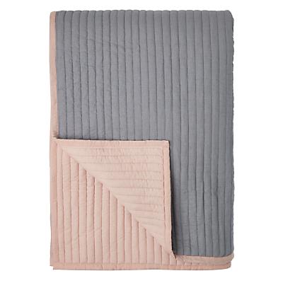 John Lewis Scandi Reversible Quilted Bedspread, Plaster