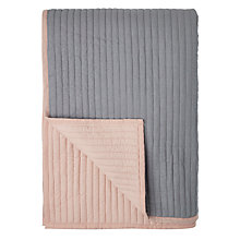 Buy John Lewis Scandi Reversible Quilted Bedspread, Plaster Online at johnlewis.com