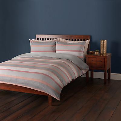John Lewis Sahara Stripe Cotton Jacquard Duvet Cover and Pillowcase Set