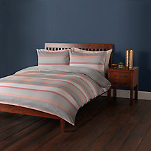 Buy John Lewis Sahara Stripe Cotton Jacquard Duvet Cover and Pillowcase Set Online at johnlewis.com